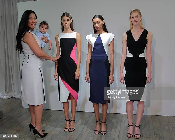 Kimora Lee Simmons Leisser and son Wolfe back stage with models at Kimora Lee Simmons Presentation Spring 2016 New York Fashion Week The Showsat on...