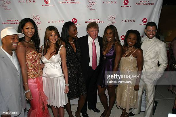 Kimora Lee Simmons Melania Trump Venus Williams Donald Trump Serena Williams Star Jones and Al Reynolds attend Russell Simmons' Art For Life Palm...