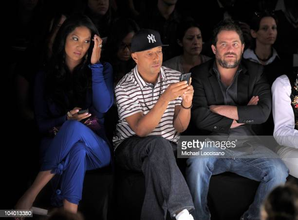 Kimora Lee Simmons Russell Simmons and director Brett Ratner attend the Z Spoke by Zac Posen Spring 2011 fashion show during MercedesBenz Fashion...