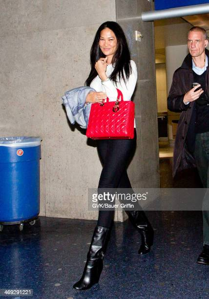 Kimora Lee Simmons seen at LAX airport on February 13 2014 in Los Angeles California