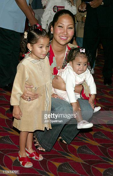 Kimora Lee Simmons with daughters Ming Lee and Aoki Lee