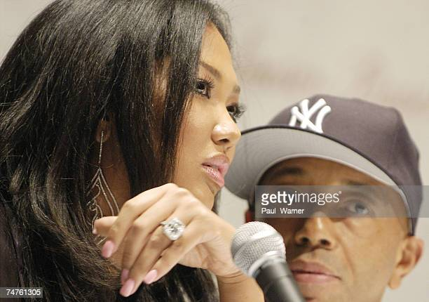 Kimora Simmons and Russell Simmons at the Wayne State University's Bonstelle Theatre in Detroit MI
