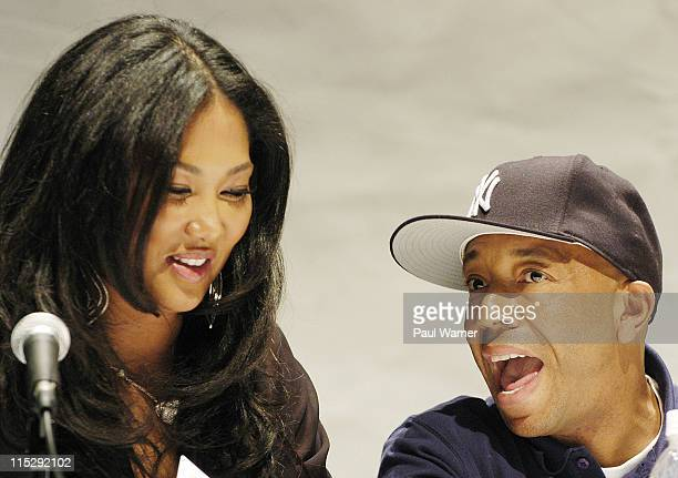 Kimora Simmons and Russell Simmons during 2006 Hip Hop Summit Sponsored By Chrysler Financial at Wayne State University's Bonstelle Theatre in...