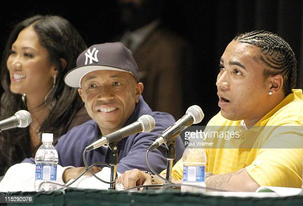 Kimora Simmons Russell Simmons and Don Omar during 2006 Hip Hop Summit Sponsored By Chrysler Financial at Wayne State University's Bonstelle Theatre...
