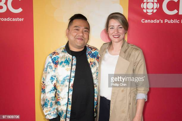 'Kim's Convenience' TV show actor Andrew Phung and the Honourable Melanie Joly Minister of Canadian Heritage Government of Canada attend the CBC...