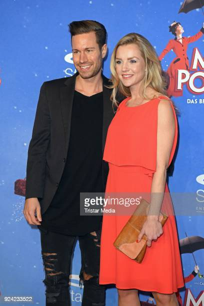 KimSarah Brandts and her boyfriend attend the 'Mary Poppins' Musical Premiere at Stage Theater on February 25 2018 in Hamburg Germany