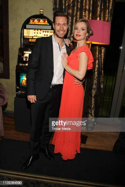 KimSarah Brandts and her boyfriend Jan Riecken attend the Bond Party at Aspria Uhlenhorst on February 16 2019 in Hamburg Germany