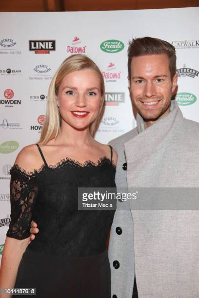 KimSarah Brandts and Jan Riecken during the charity event 'Food for Good' to celebrate the first anniversary of Food Sky at Europa Passage on October...