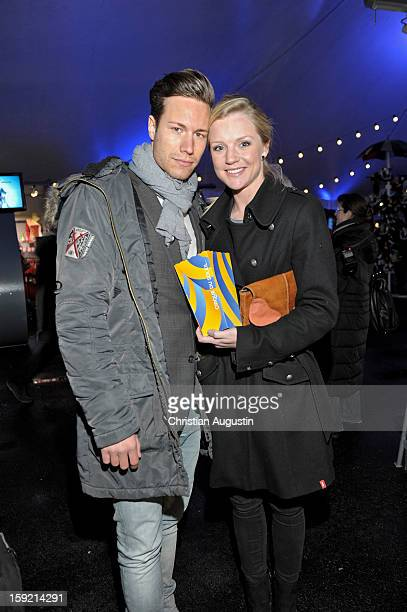 KimSarah Brandts and Jan Rieken attend Corteo Cirque De Soleil Premiere on January 9 2013 in Hamburg Germany