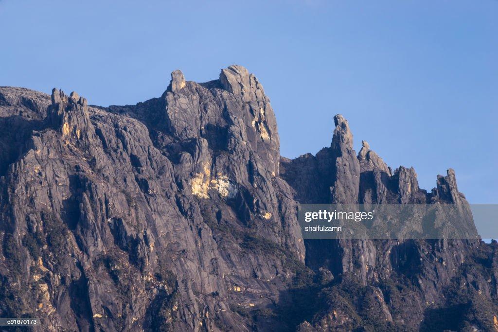 Kinabalu peak in Sabah : Stock Photo