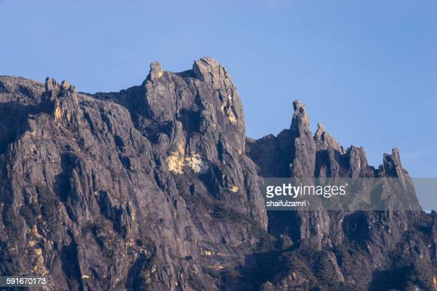 kinabalu peak in sabah - shaifulzamri stock pictures, royalty-free photos & images