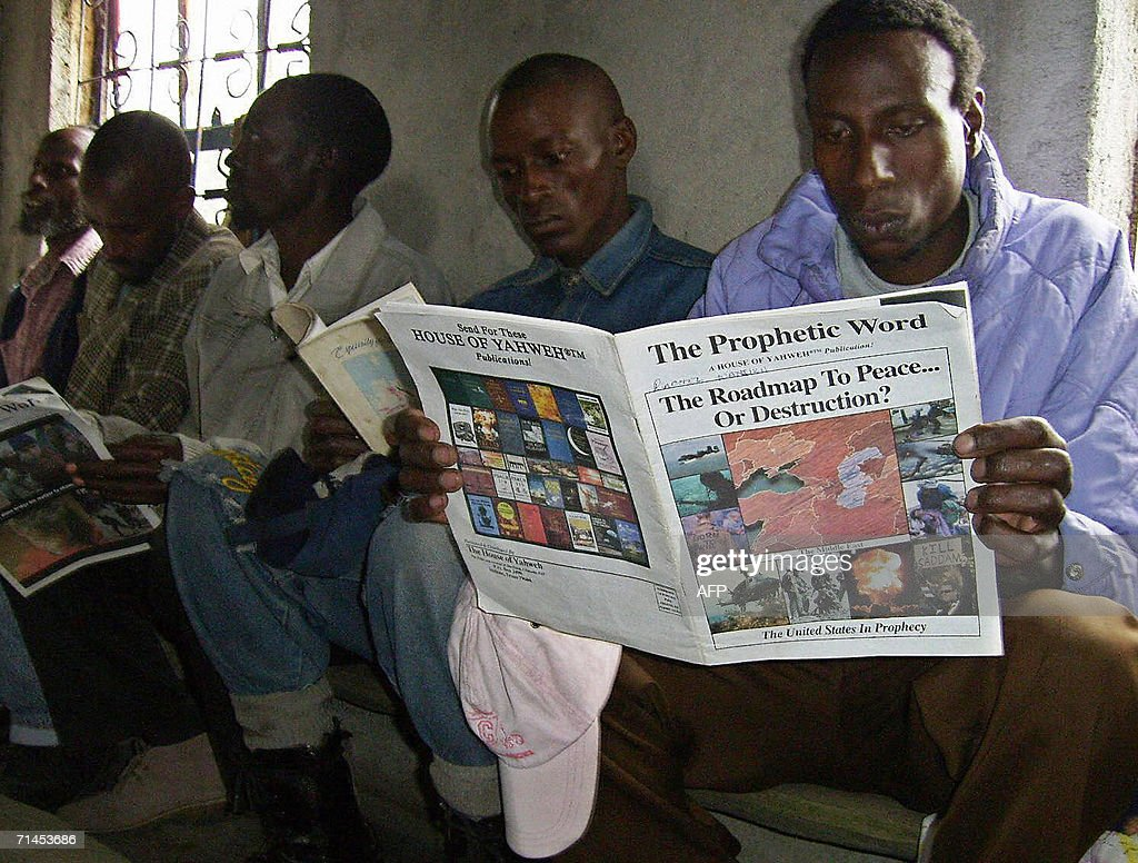 Members of a doomsady cult, House of Yahweh, read religious    News