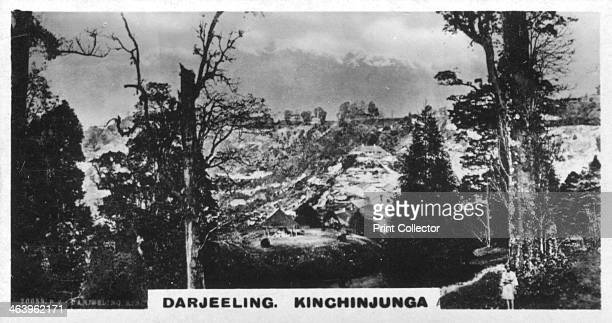 Kinchinjunga from Beechwood Darjeeling India c1925 Kinchinjunga is the third highest mountain in the world Cigarette card produced by the Westminster...