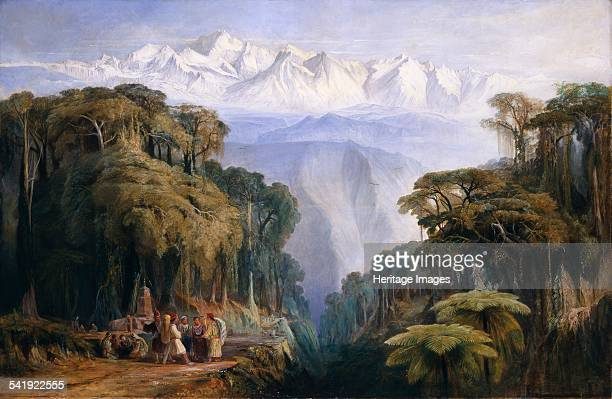Kinchinjunga from Darjeeling' 1877 Artist Edward Lear