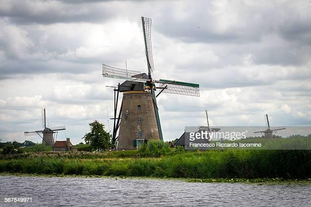 Kinderdijk, Nederland. Windmills