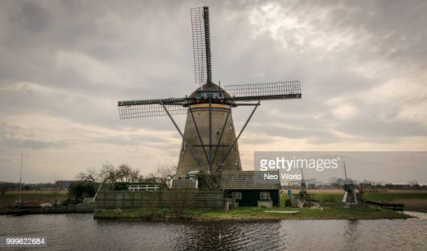 kinderdijk - traditional windmill stock photos and pictures
