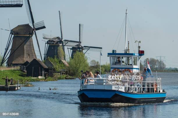 Kinderdijk windmills landmark in The Netherlands during a sunny day Kinderdijk is a mill network in the province of South Holland near Rotterdam city...