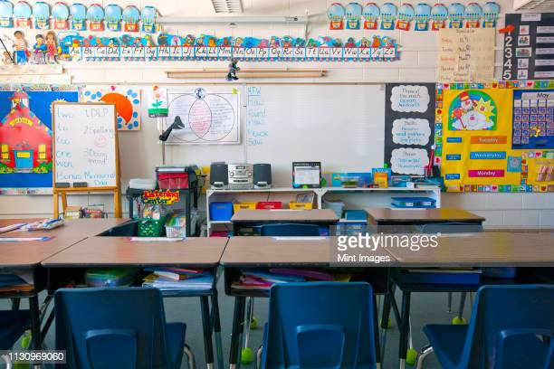 kindergarten classroom - no people stock pictures, royalty-free photos & images
