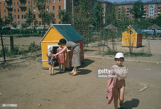 A kindergarten in Moscow Russia August 1959