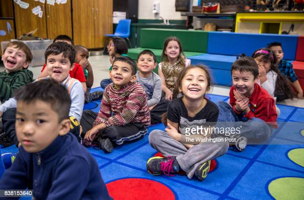 Kindergarten students at Guilford Elementary school sing and dance in music class February 6 2015 The school system in Loudoun County one of the...