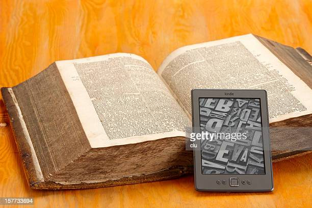 KIndle eBook and a very old book