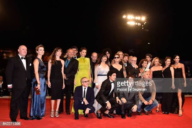 Kineo delegation walks the red carpet ahead of the 'The Leisure Seeker ' screening during the 74th Venice Film Festival at Sala Grande on September 3...
