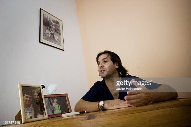 Kinesiologist and former coach of Messi in the junior divisions of Newell´s Old Boys in 1999 Gabriel Digerolamo poses for a picture in his medical...
