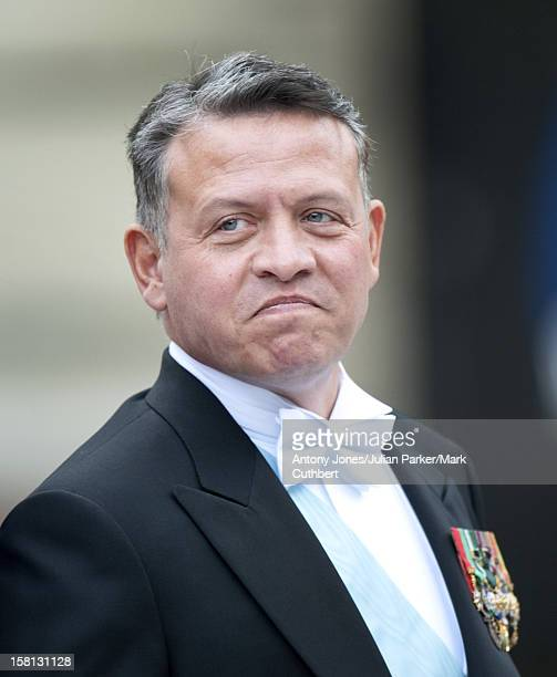 King Abdullah At The Wedding Of Crown Princess Victoria Of Sweden And Daniel Westling At Stockholm Cathedral