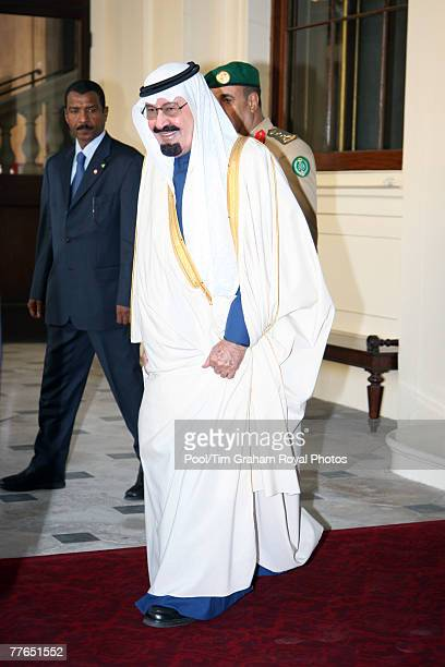 King Abdullah Bin Abdul Aziz Al Saud of Saudi Arabia departs from Buckingham Palace at the end of his State Visit to the United Kingdom on November 1...