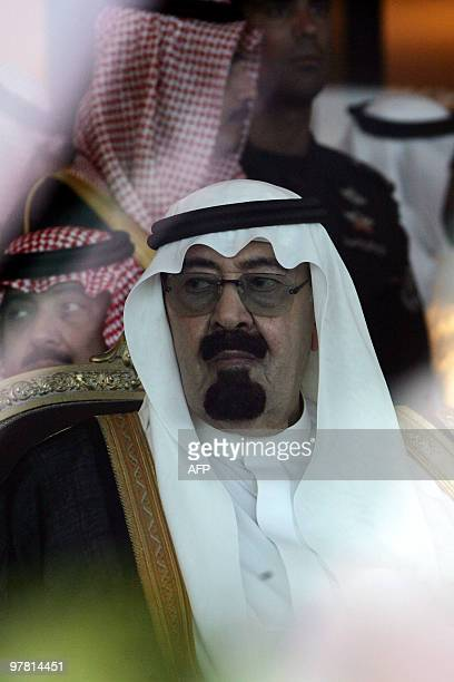 King Abdullah bin Abdul Aziz attends the opening ceremony of the annual Janadriyah Festival of Heritage and Culture on the outskirts of the capital...