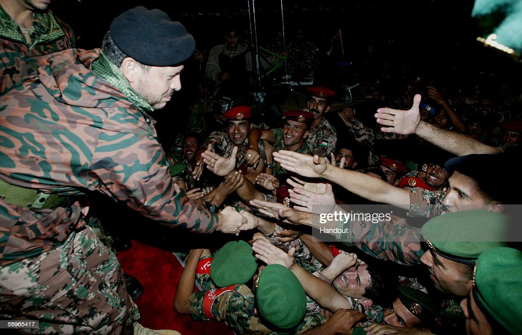 Jordan's King Abdullah Breaks Fast With Soldiers : News Photo