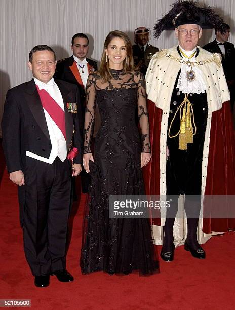 King Abdullah II And Queen Rania Of Jordan Attending A Banquet At The Guildhall Hosted By The Lord Mayor Of London [ Sir David Howard ] And The...