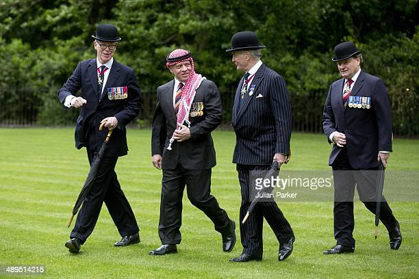 King Abdullah II Ibn alHussein of Jordan attends The Combined Cavalry Old Comrades Association 90th Annual Parade in Hyde Park on May 11 2014 in...