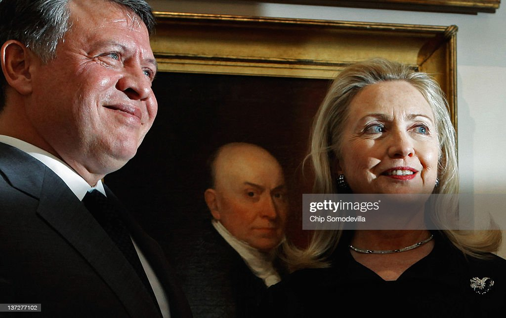 Secretary Of State Clinton Meets With King Abdullah Of Jordan