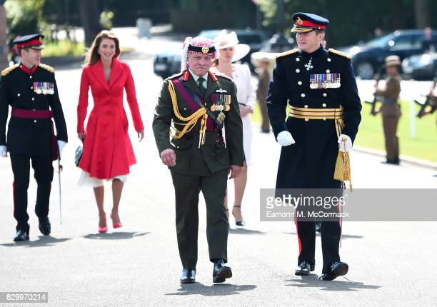 King Abdullah II of Jordan attends the Sovereign's Parade at the Royal Military Academy Sandhurst on August 11 2017 in Camberley England