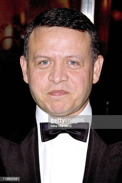 King Abdullah II of Jordan during Foreign Press Association Media Awards at Sheraton Park Lane Hotel in London Great Britain