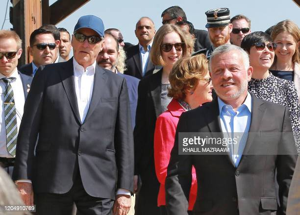 King Abdullah II of Jordan King Harald V of Norway and his wife Queen Sonja of Norway Prince Ali bin Hussein of Jordan and Norway's Foreign Minister...