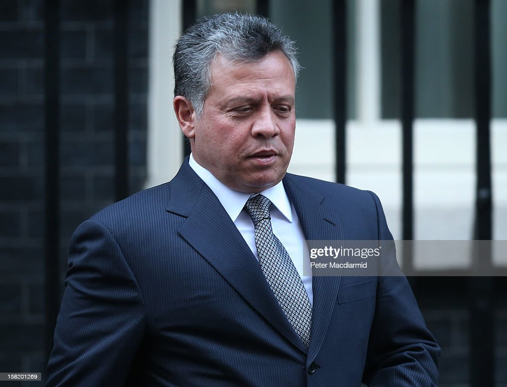 King Abdullah II of Jordan leaves Number 10 Downing Street after meeting with Prime Minister David Cameron on December 11, 2012 in London, England. King Abdullah, on a two day visit to London, is due to discuss the ongoing efforts to deport terror suspect Abu Qatada from Britain.
