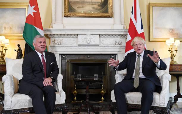 GBR: King of Jordan Visits U.K. Prime Minister