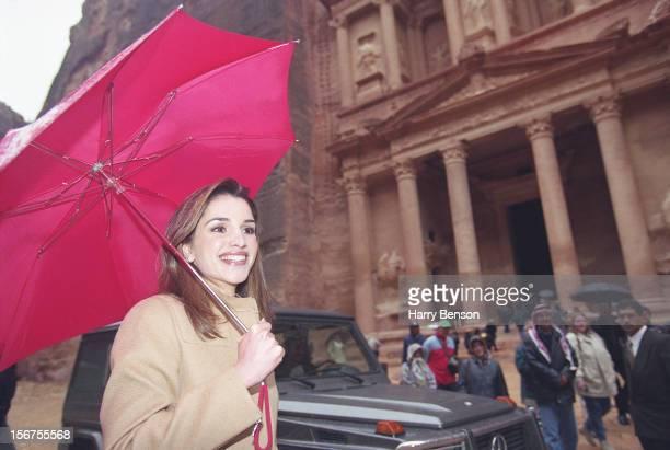 MA'AN JORDAN JANUARY 01 King Abdullah II of Jordan's wife Queen Rania is photographed for Life Magazine in 2000 in Ma'an Jordan