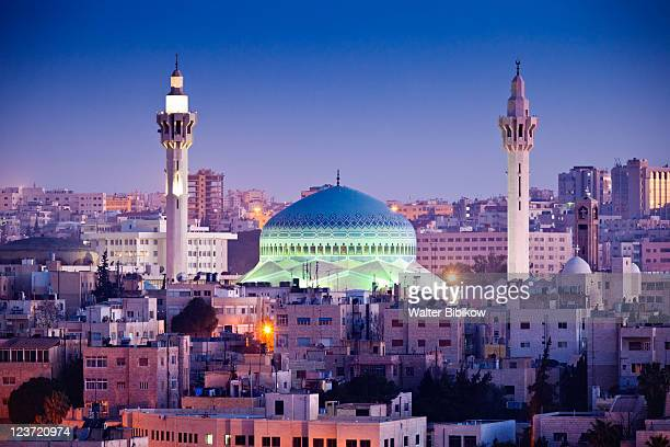 king abdullah mosque - amman stock pictures, royalty-free photos & images