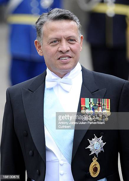 King Abdullah Of Jordan At The Wedding Of Crown Princess Victoria Of Sweden And Daniel Westling At Stockholm Cathedral