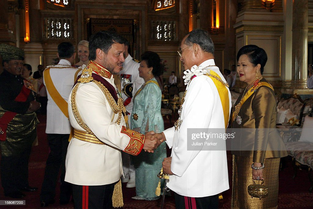 Celebrations To Mark The 60Th Anniversary Of Thai King Bhumibol Adulyadej'S Accession To The Throne : News Photo