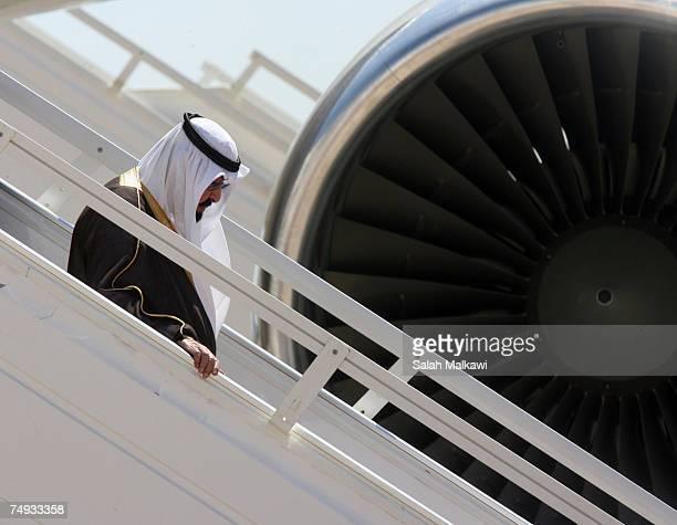 King Abdullah of Saudi Arabia looks upon his arrival on June 27 2007 in Amman Jordan King Abdullah of Saudi Arabia is in Jordan on a two day state...