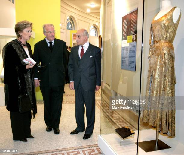 King Albert and Queen Paola attend the opening of an exhibition celebrating 100 years since Queen Astrid's birth BelVue Museum on November 17 2005 in...