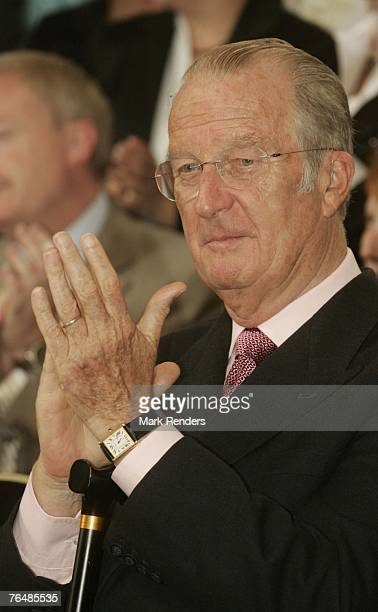 King Albert from Belgium assists a party for Queen Paola's 70th birthday at Laeken Castle on September 02 2007 in the Belgian Capital Brussels Queen...