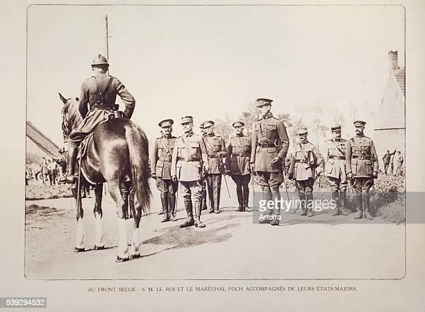 King Albert I and Field Marshal Ferdinand Foch in Flanders during the First World War Belgium