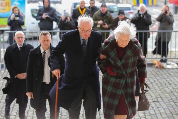 BEL: Belgium Royal Family Attends The Annual Memorial Mass For Deceased Members Of The Royal Family at the Church of Our Lady
