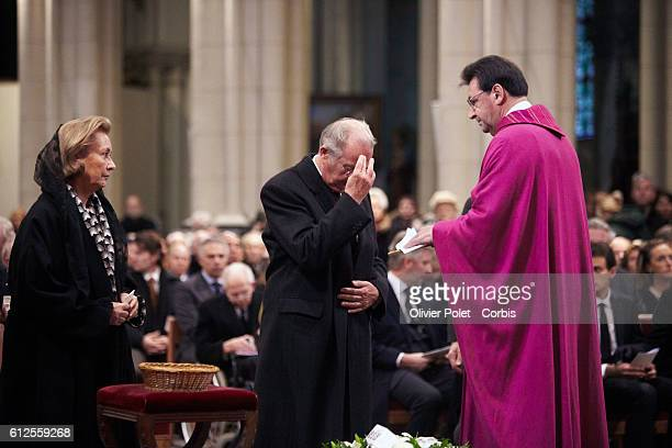 King Albert II and Queen Paola of Belgium at the funeral ceremony of Prince Alexander of Belgium in the Laken suburb of Brussels. Prince Alexander...
