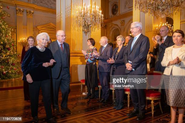 King Albert II of Belgium and Queen Paola attend the Christmas Concert on December 18 2019 in Brussels Belgium